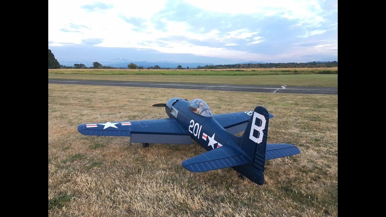 Flying the F8F Bearcat from JB Hobbies VQ Legend Models