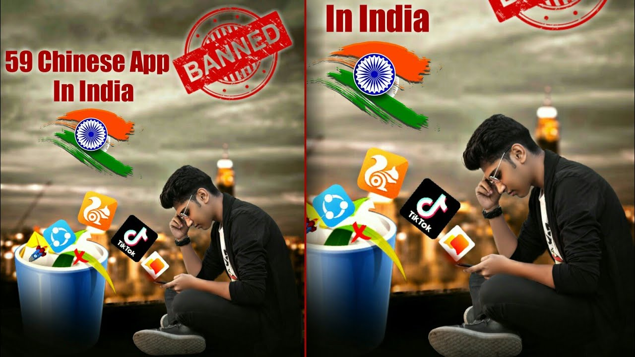 59 Chinese app banned in India 🔥 |🚫 Chinese app ban photo editing | deepu Editor