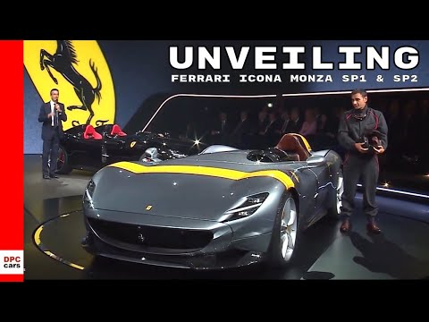 Ferrari Icona Monza SP1 and SP2 Unveiling