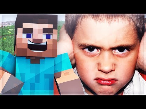 Trolling a 7 Year Old in Minecraft