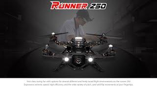 walkera runner 250 size racing quadcopter drone racer unboxing flight test