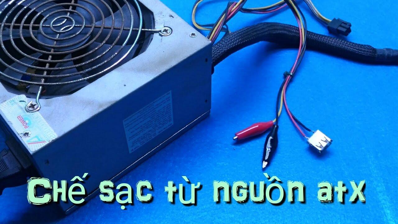 Hướng dẫn cách chế sạc Acquy , điện thoại từ nguồn PC đơn giản