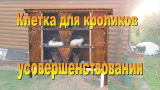Клетка для кроликов своими руками  Схемы, размеры, усовершенствования