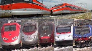 Treni alta velocità in corsa (6/2017) [av roma-firenze] frecciarossa1000 doppio, frecciarossa, italo