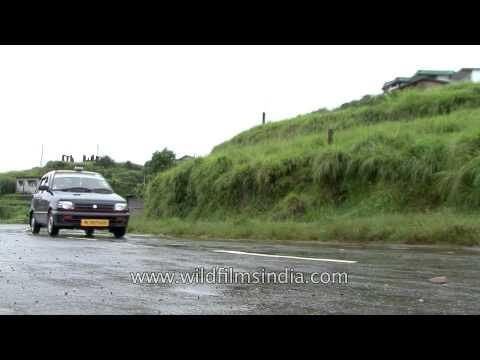 Slippery rides on roads of rainy Cherrapunji
