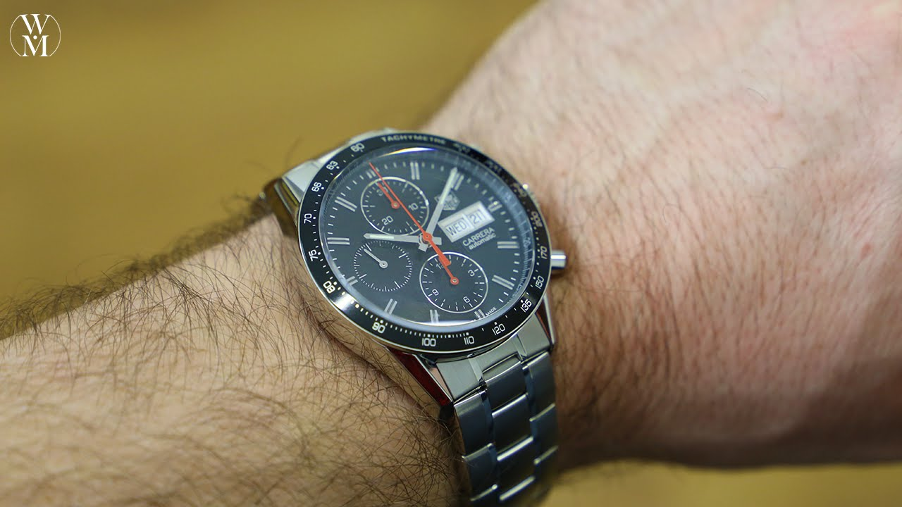 luxury watch tag heuer carrera reference cv201ah ba0725 youtube rh youtube com Rolex Watches Baume Mercier
