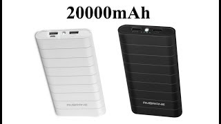 Ambrane S8 20000mAh power bank Unboxing