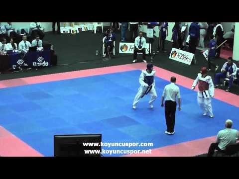 59kg Badalyan (ARM) vs (GRE) Tsokanos (19th Europen Junior TKD Championships 2013)