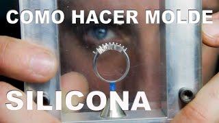 COMO HACER MOLDES DE SILICONA PARA JOYERÍA (How it's made, silicone mold for jewelry)