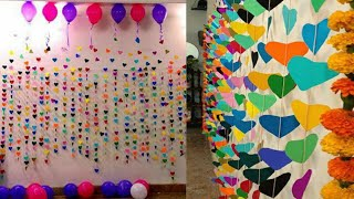 Paper Wall Hanging // Wall Decoration Idea At Home :: Festival Background Decoration Idea :: Diy