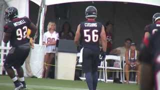2013 Houston Texans Training Camp - Brian Cushing's Return From ACL Injury