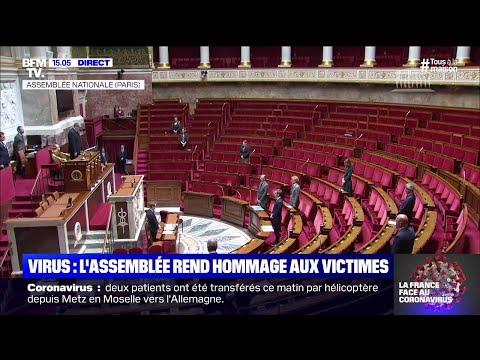 L'Assemblée Nationale observe une minute de silence en hommage aux victimes du coronavirus