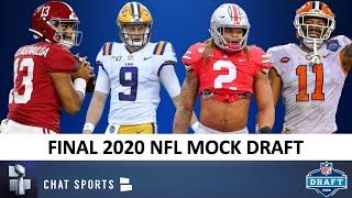 NFL Mock Draft: FINAL 1st Round Projections Ft. Joe Burrow, Tua, Jerry Jeudy & 2020 NFL Draft Rumors