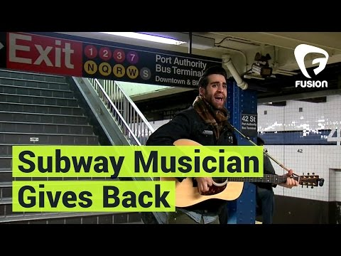 Subway Singer Collects Money to Donate Right at the Spot