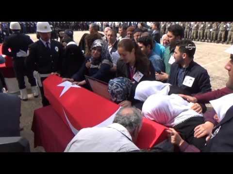 Gaziantep şehitlerinin uğurlama töreninde yürek yakan anlar