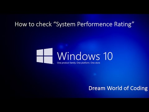 How to Check System Performance Rating in Windows 10