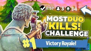 THE MOST DUO KILLS CHALLENGE!! - Fortnite Battle Royale Gameplay