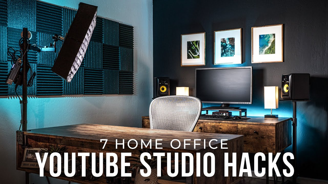7 Tips To Streamline A Small Studio Space My Youtube Office Setup Tour Youtube