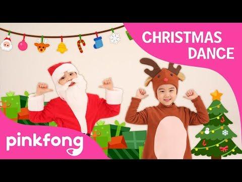 S-A-N-T-A | Christmas Dance | Dance Along | Pinkfong Songs for Children