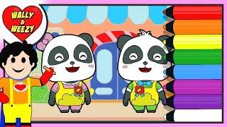 Coloring Babybus Kiki And Miu Miu Coloring Pages