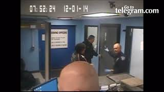Video: Surveillance video from holding cell at Worcester police station