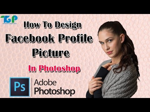 How To Design Facebook Profile Picture//  Photoshop Tutorial thumbnail