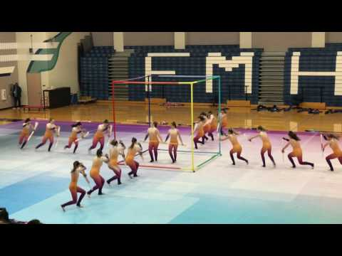 Flower Mound High School Color Guard 4K - March 30, 2017