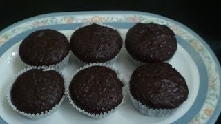 Eggless Oats Chocolate Muffins