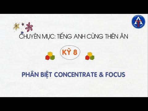 [TIẾNG ANH CÙNG THIÊN ÂN] - Kỳ 8: Sự Khác Biệt Giữa Concentrate & Focus Trong Tiếng Anh