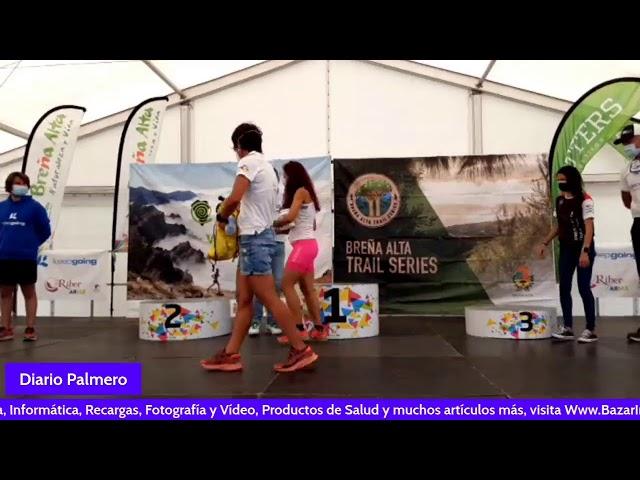 Entrega de trofeos Breña Alta Trail keepgoin Canarias