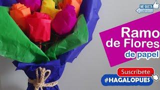 COMO HACER FLORES  DE PAPEL PASO A PASO