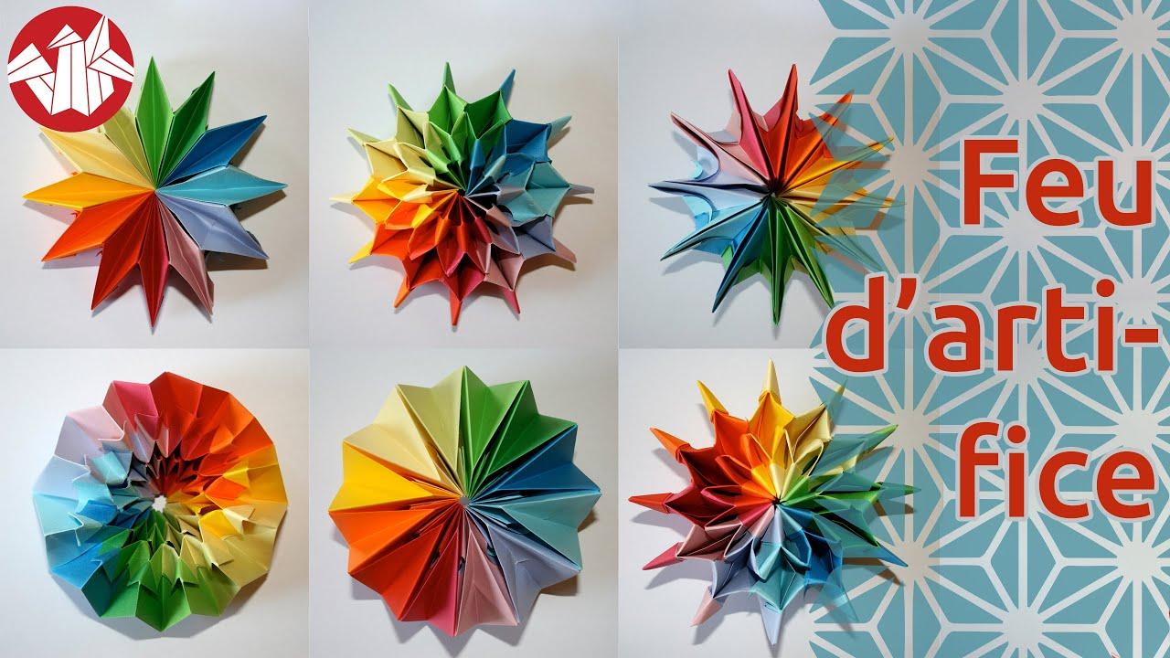 origami feu d 39 artifice pliage modulaire qui se transforme senbazuru youtube. Black Bedroom Furniture Sets. Home Design Ideas