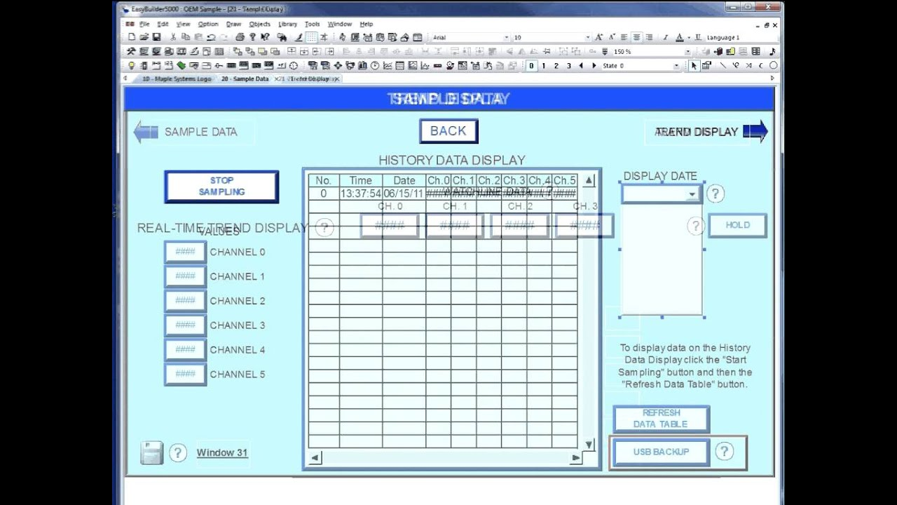 Create A Data Sample And Trend Display Maple Systems