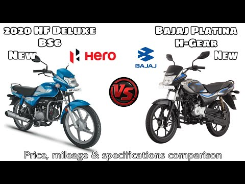 2020 Hero HF Deluxe BS6 VS Bajaj Platina 110 H Gear,Price, Mileage And Specifications Comparison