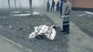 Герои Украины  и их геройства! Жестокие кадры  24 01 2015 Мариуполь