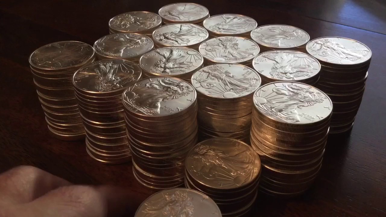 Stacking Silver 320 Oz Silver Eagle Goal Complete Youtube