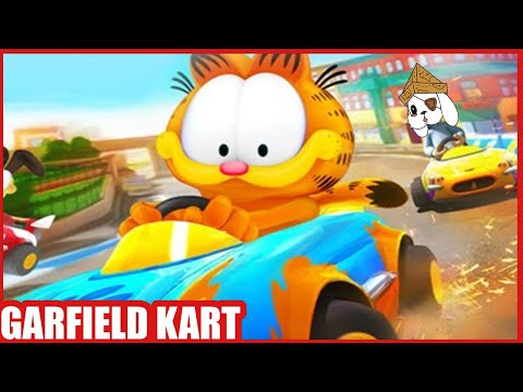 A Garfield Racing Game ! Let's Play Garfield Kart Furious Racing |