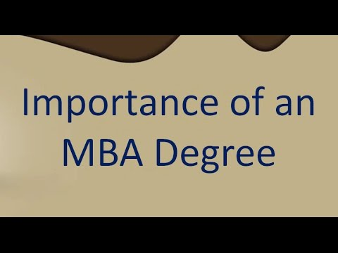 Importance of an MBA Degree