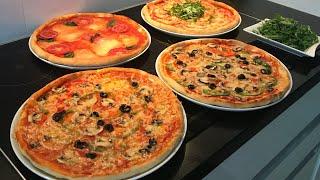 Hazir pizzalardan cok lezzetl/3 cesit pizza