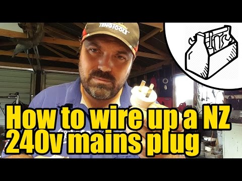 How To Wire Up A Nz Plug 1925 Youtube