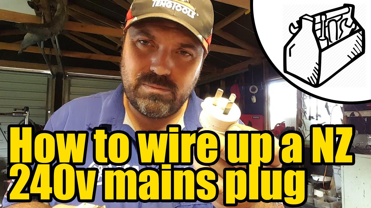 How To Wire Up A Nz Plug 1925 Youtube Power Wiring Diagram
