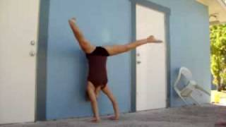 Gymnastics press handstand drills