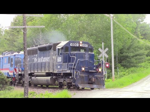 MEC 600 leads FRA train from Newport to Northern Maine Junction 6/14/17