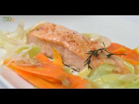 recette-de-saumon-vapeur-et-ses-légumes---750g