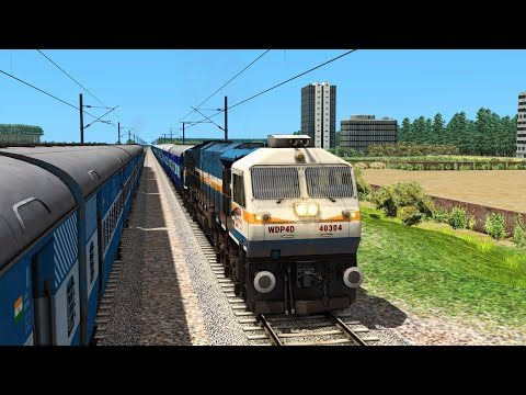 SuperFast Express Train Journey With WDP4D Indian Railways Train Simulator 2021 |
