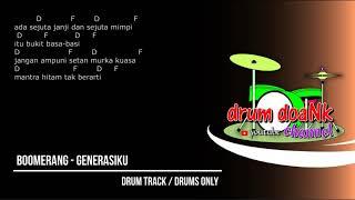 Boomerang - Generasiku (drums only) [chord gitar & lirik]