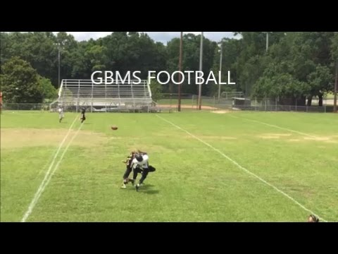 Grand Bay Middle School Football White Jersey VS Black Jersey