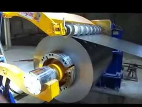 Steel Coil Uncoiler Or Decoiler For Slitting Machine Youtube