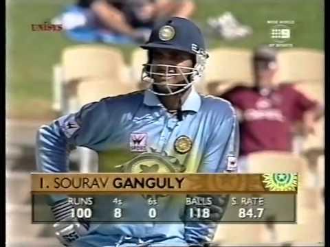 Sourav Ganguly 141 Vs Pakistan Adelaide 1999 00 Youtube
