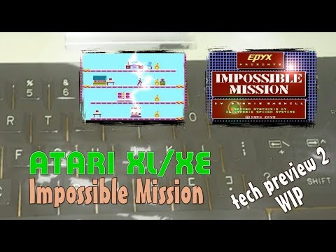 Atari XL/XE -=Impossible Mission=- tech preview 2